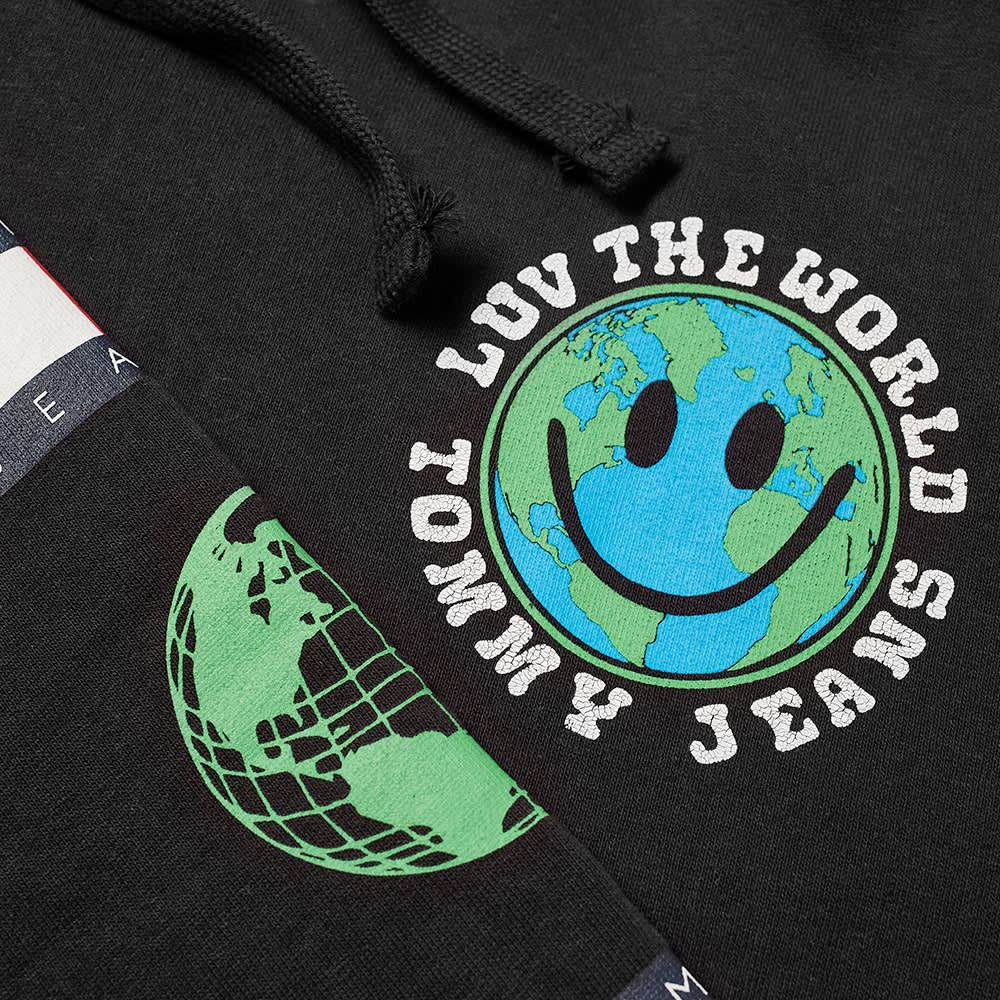 Tommy Jeans Tj Us Luv The World Hoody - Black