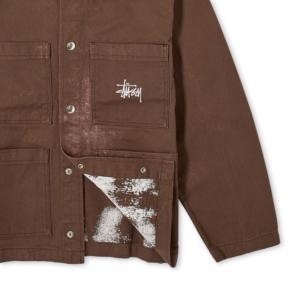 Stussy Spotted Bleach Chore Jacket - Brown