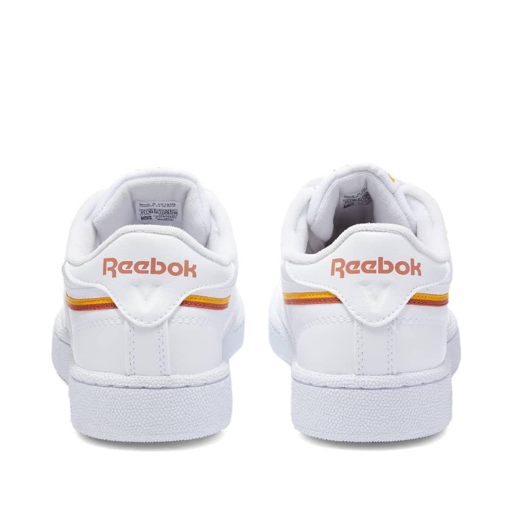 Reebok Club C 85 Vegan - White, Collegiate Gold & Earth