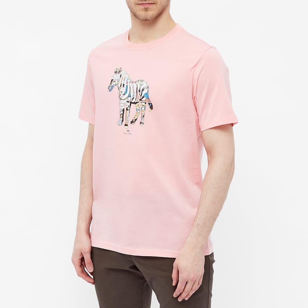Paul Smith Multicoloured Zebra Tee - Pink