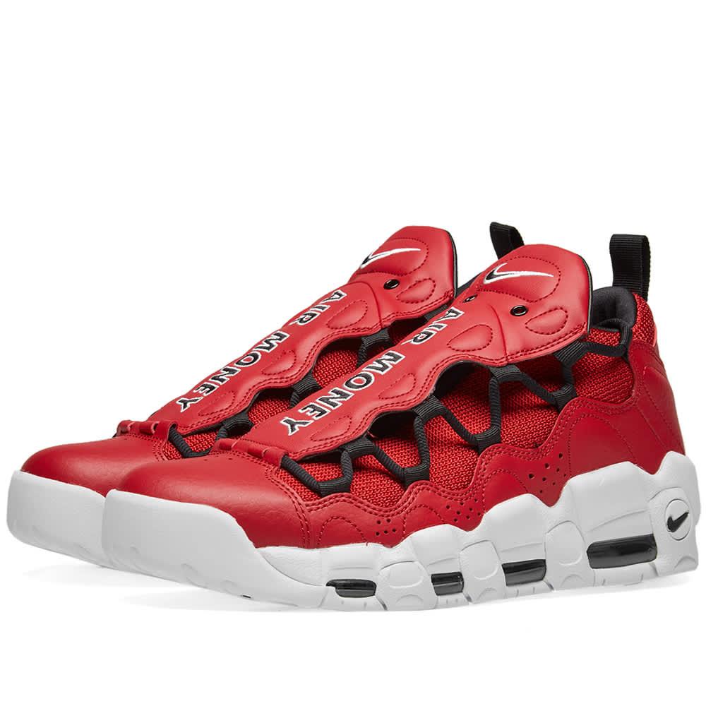 Nike Air More Money - Gym Red, Black & White
