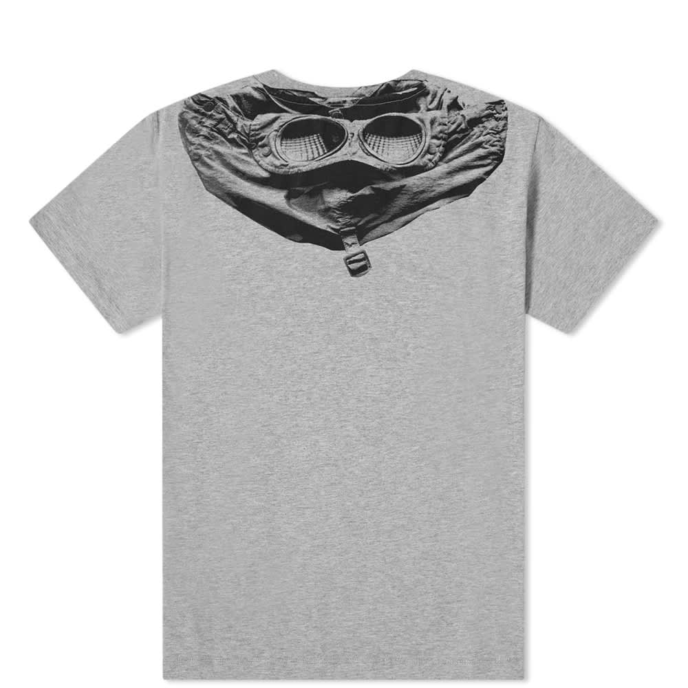 C.P. Company Undersixteen Back Goggle Print Tee - Grey Melange