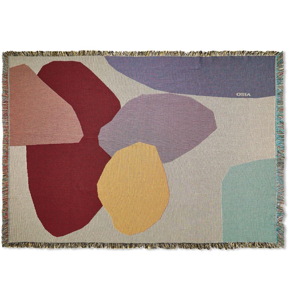 Viso Project Tapestry Blanket - Cream & Purple