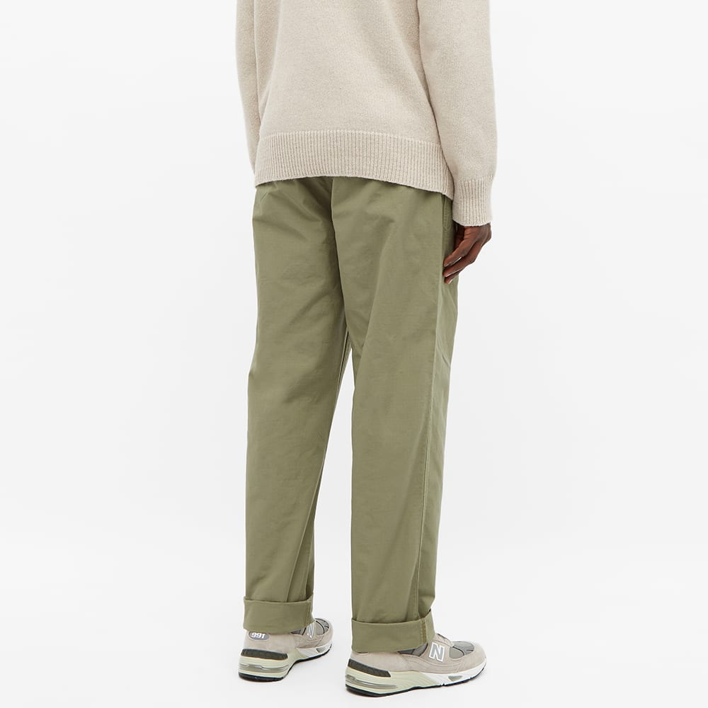 Nigel Cabourn Ripstop Pleated Chino - Army Green