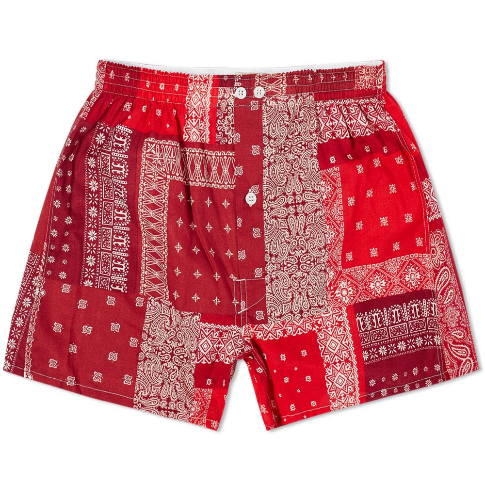 Anonymous Ism Bandana Patchwork Boxer Short - Red