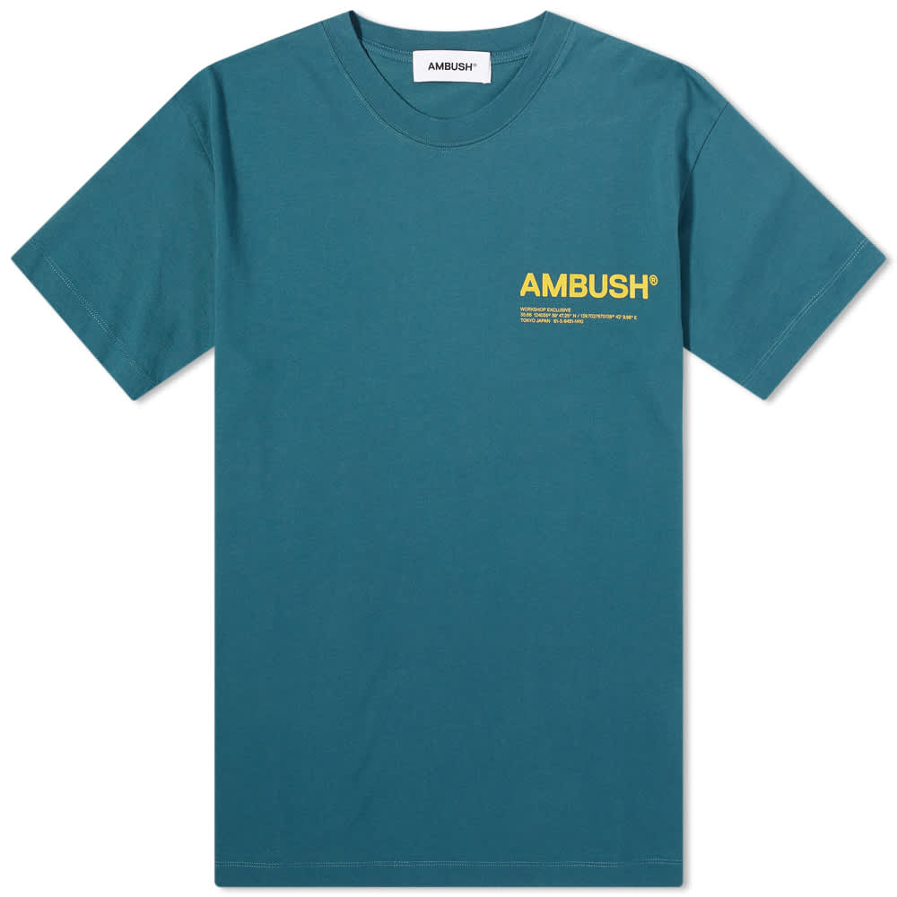 Ambush Workshop Logo Tee - Atlantic Deep