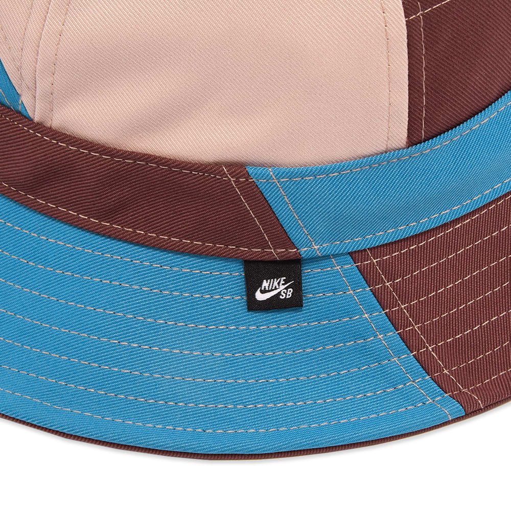 Nike SB  Mosaic Bucket Hat - Dark Wine & Pink Oxford