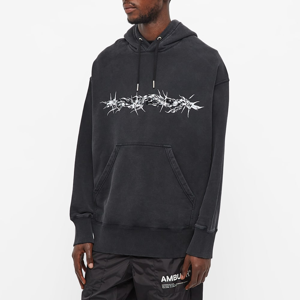 Givenchy Barbed Wire Tufting Logo Hoody - Black