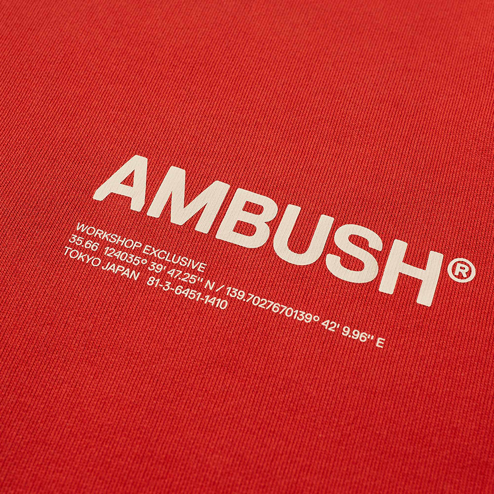 Ambush Logo Crew Sweat - Poppy