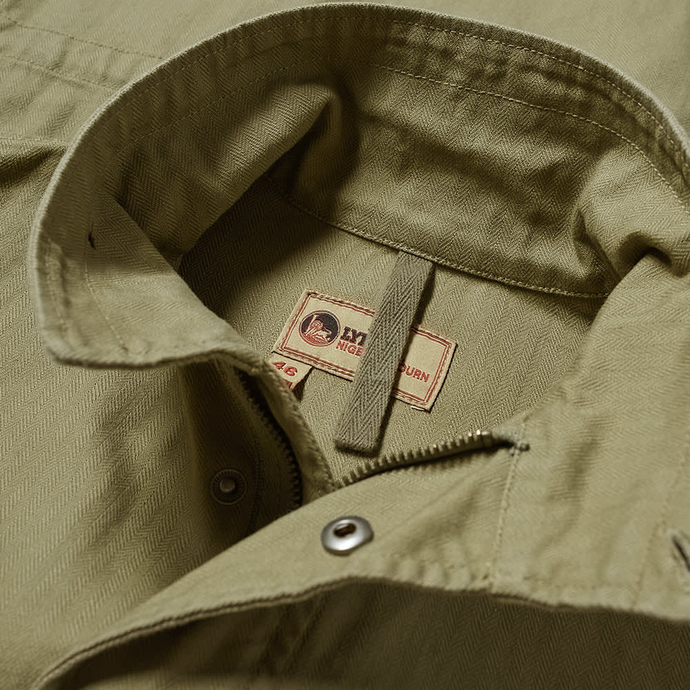Nigel Cabourn Zip Military Jacket - Army Green