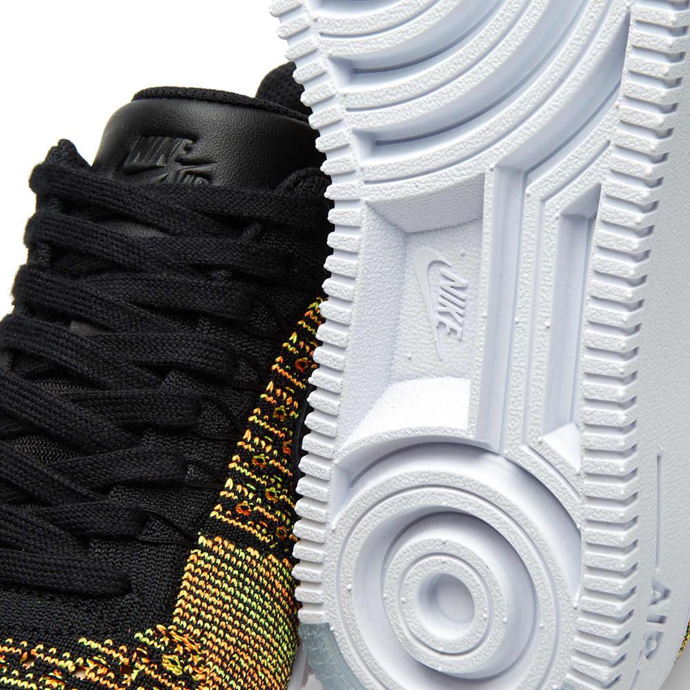 Nike Air Force 1 Ultra Flyknit Low - Volt, Black & Total Orange