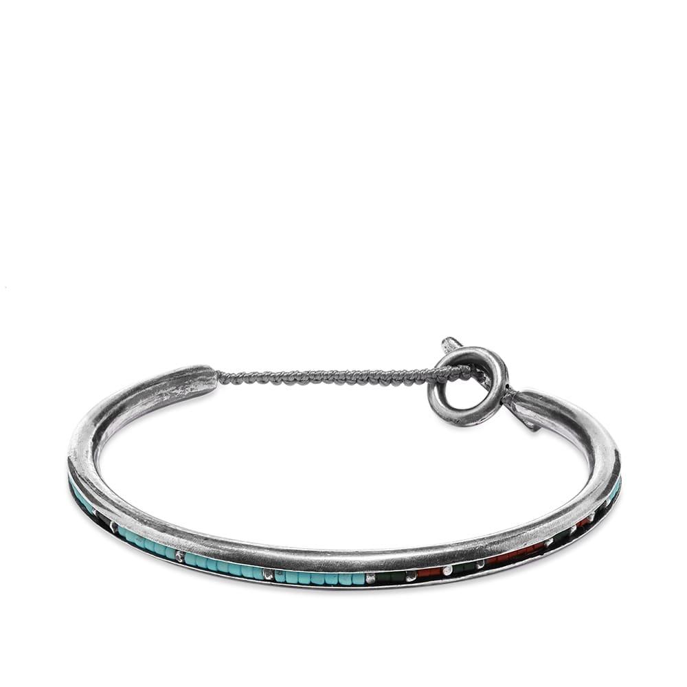 M. Cohen Round Bangle Cuff Bracelet - Jade