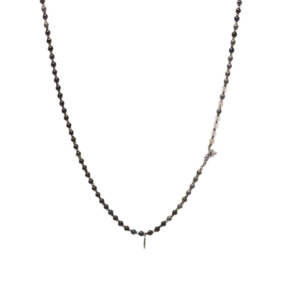 M. Cohen Silver Agora Bracelet/Necklace - Mix Gemstones