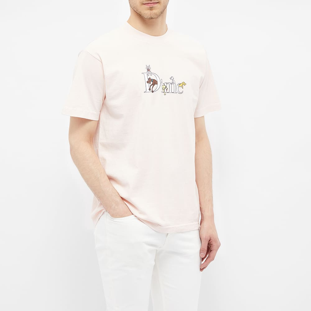 dime classic dog logo tee light pink end end