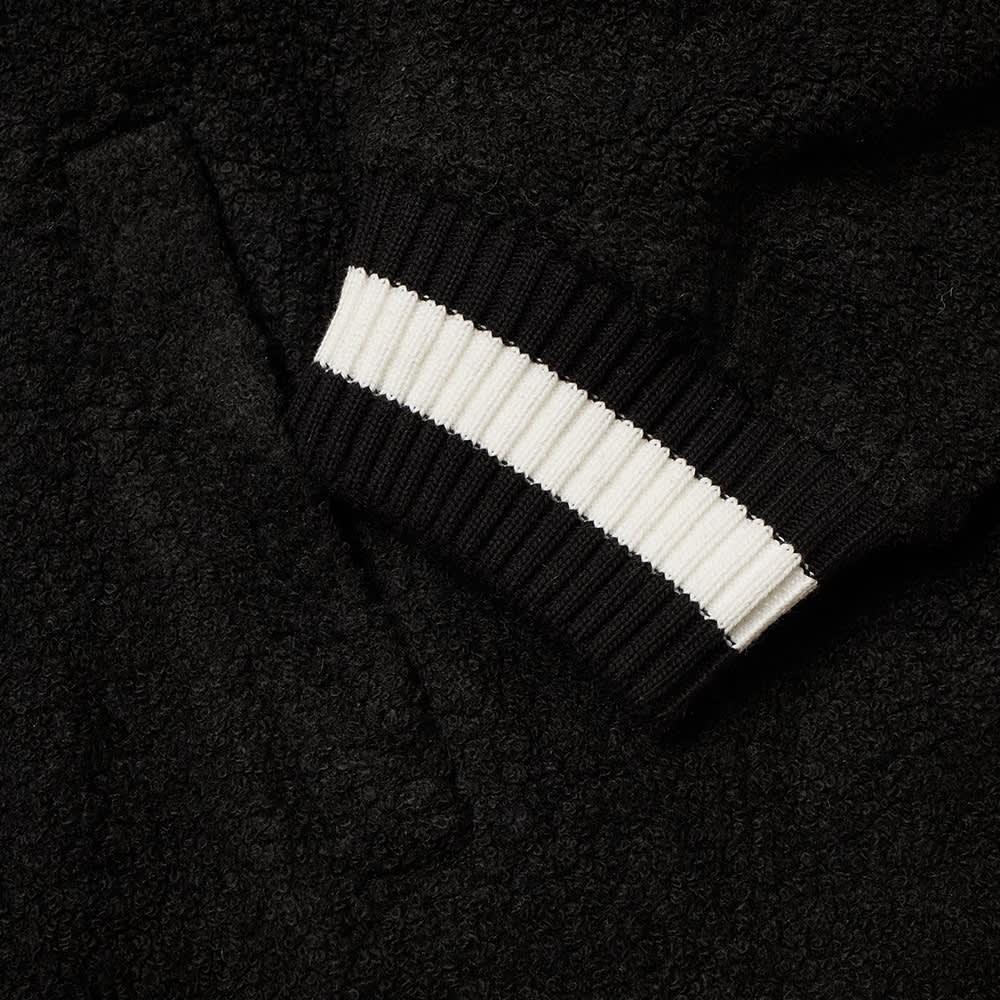 Casablanca Cashmere Terry Cloth Track Top - Black & White