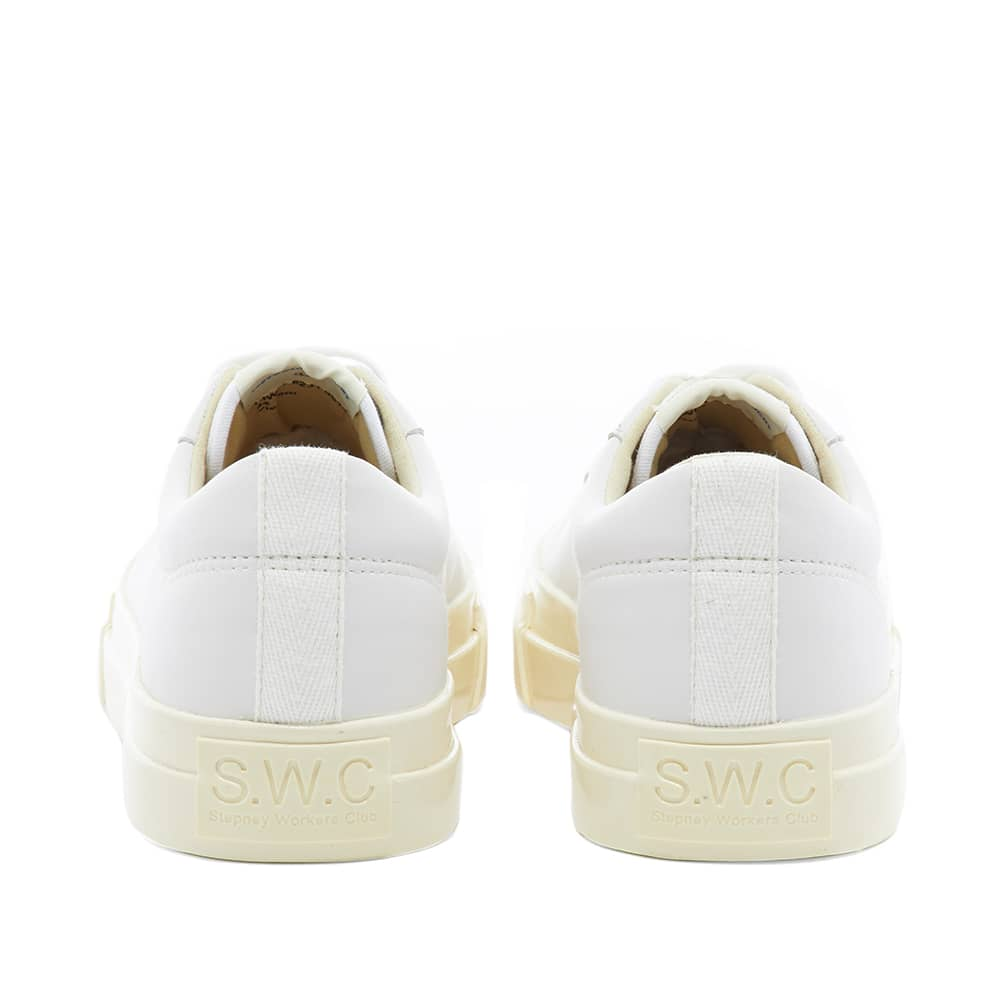 Stepney Workers Club Dellow Leather Sneaker - White