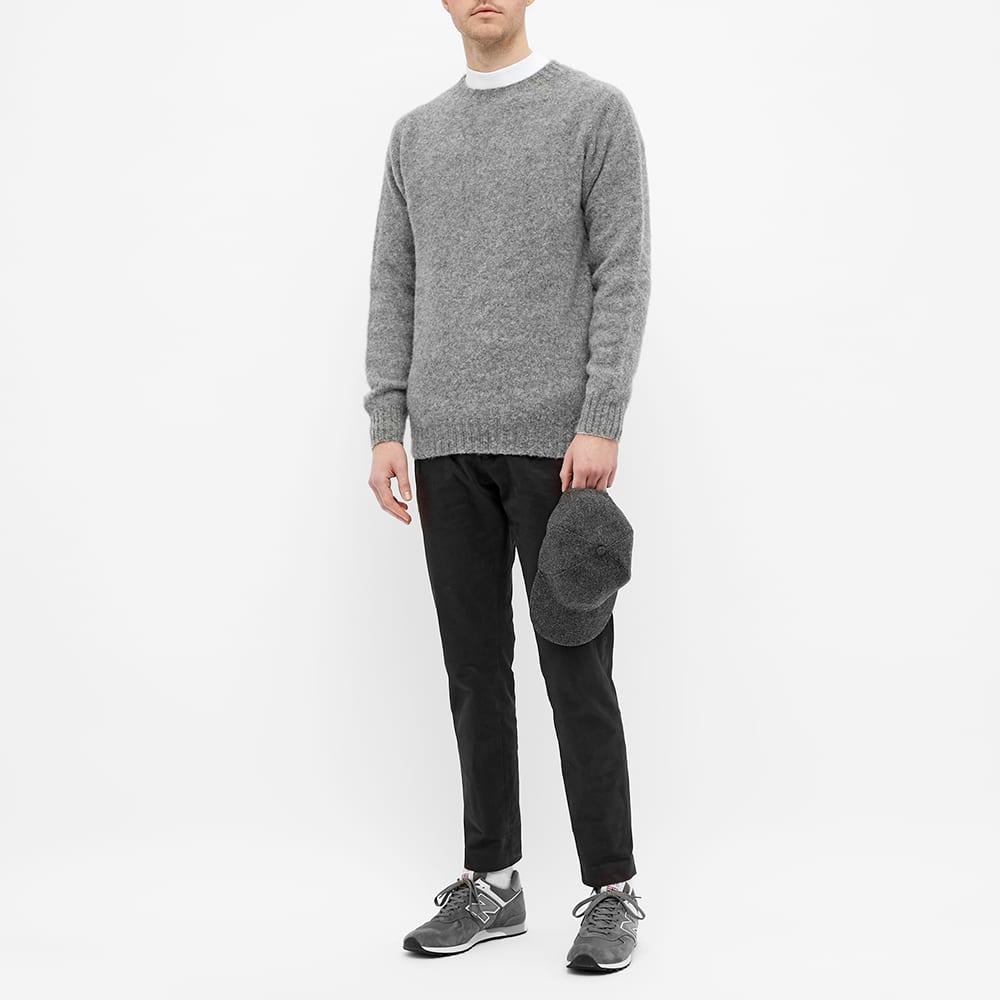 Harmony Shaggy Crew Knit - Medium Grey