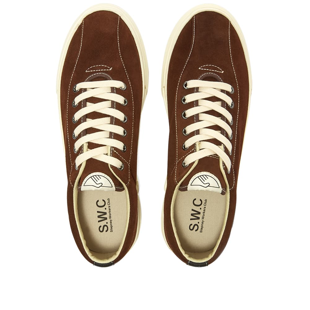 Stepney Workers Club Dellow Suede Sneaker - Chocolate