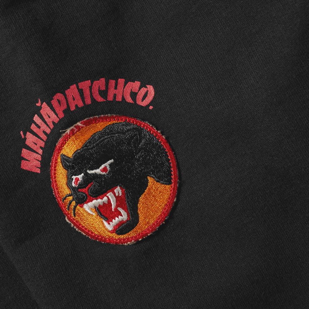 Maharishi Vintage Panther Patch Crew Sweat - Black