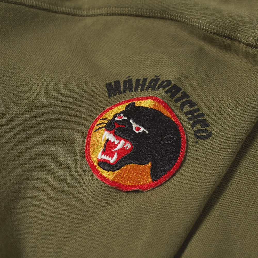 Maharishi Vintage Panther Patch Crew Sweat - Olive