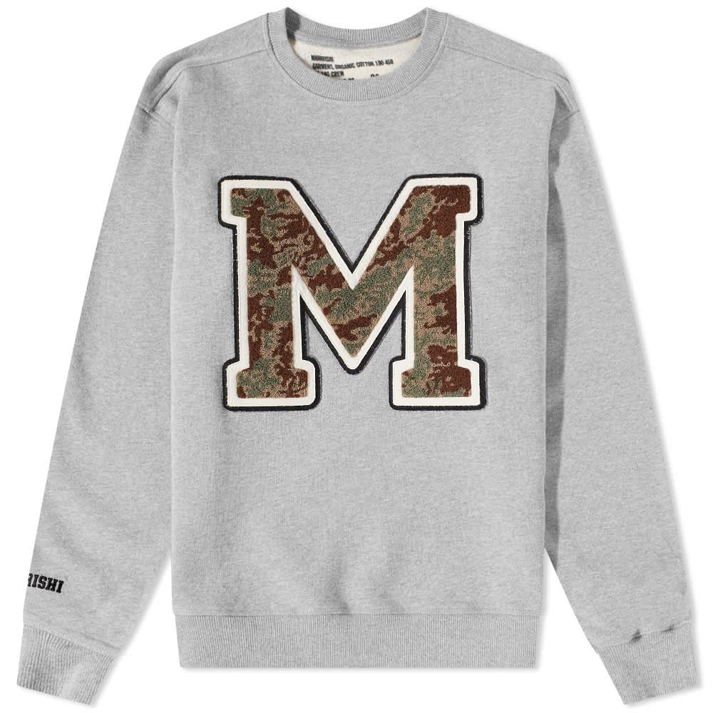 Maharishi MA23 Embroidered Crew Sweat - Grey
