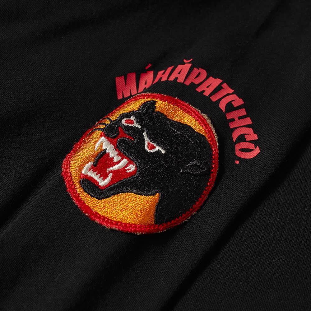 Maharishi Long Sleeve Panther Patch Tee - Black
