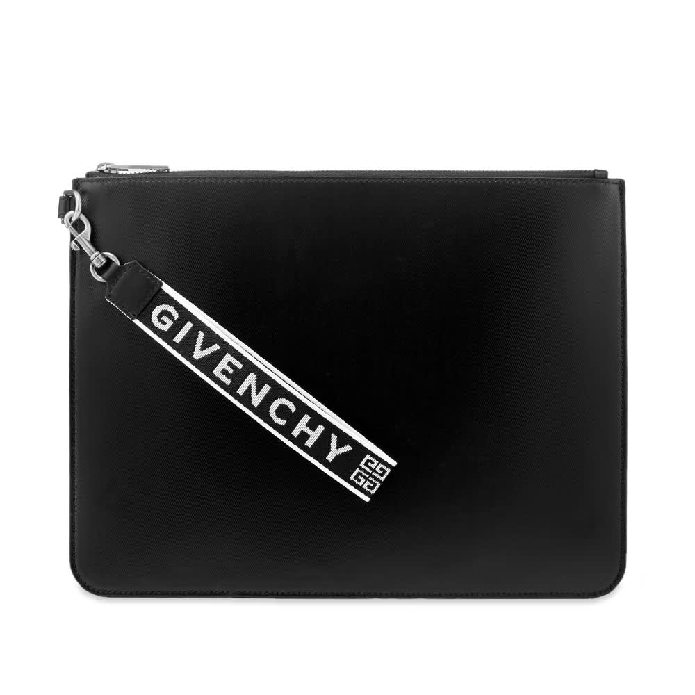 Givenchy 4G Webbing Canvas Pouch - Black