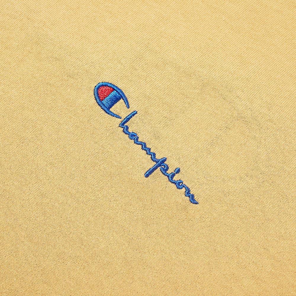 Champion Reverse Weave Script Back Logo Tee - Prairie Sand