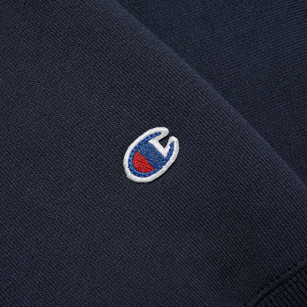 Champion Reverse Weave Script Logo Hoody - Navy