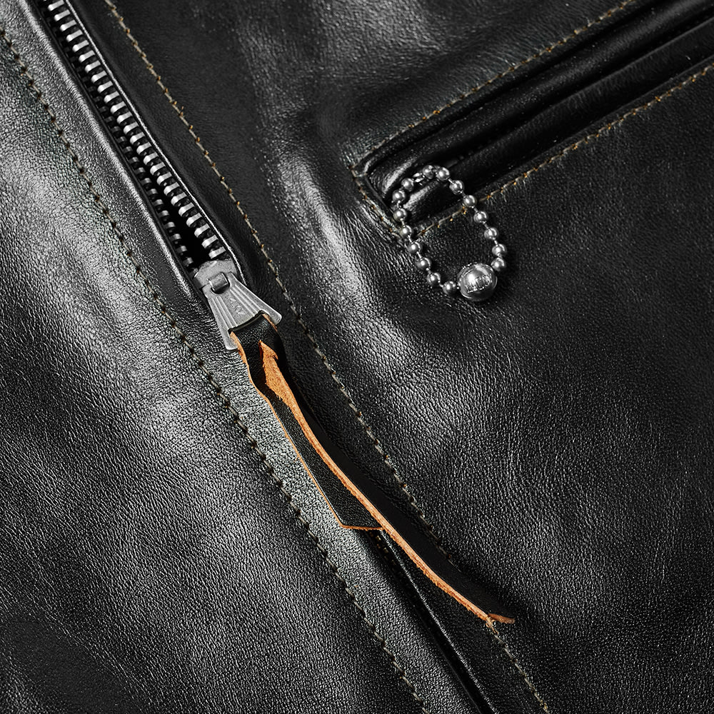 The Real McCoy's 30s Leather Sports Jacket - Black