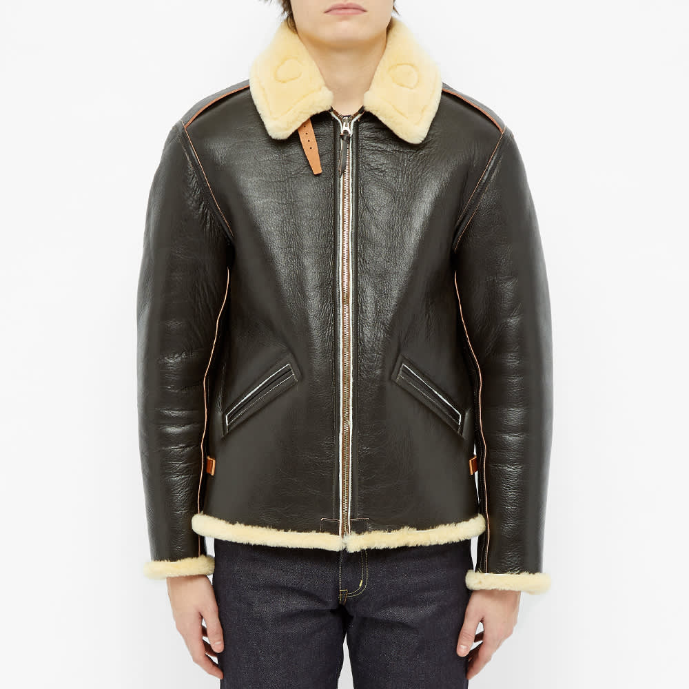 The Real McCoy's Type B-6 Flight Jacket - Seal Brown