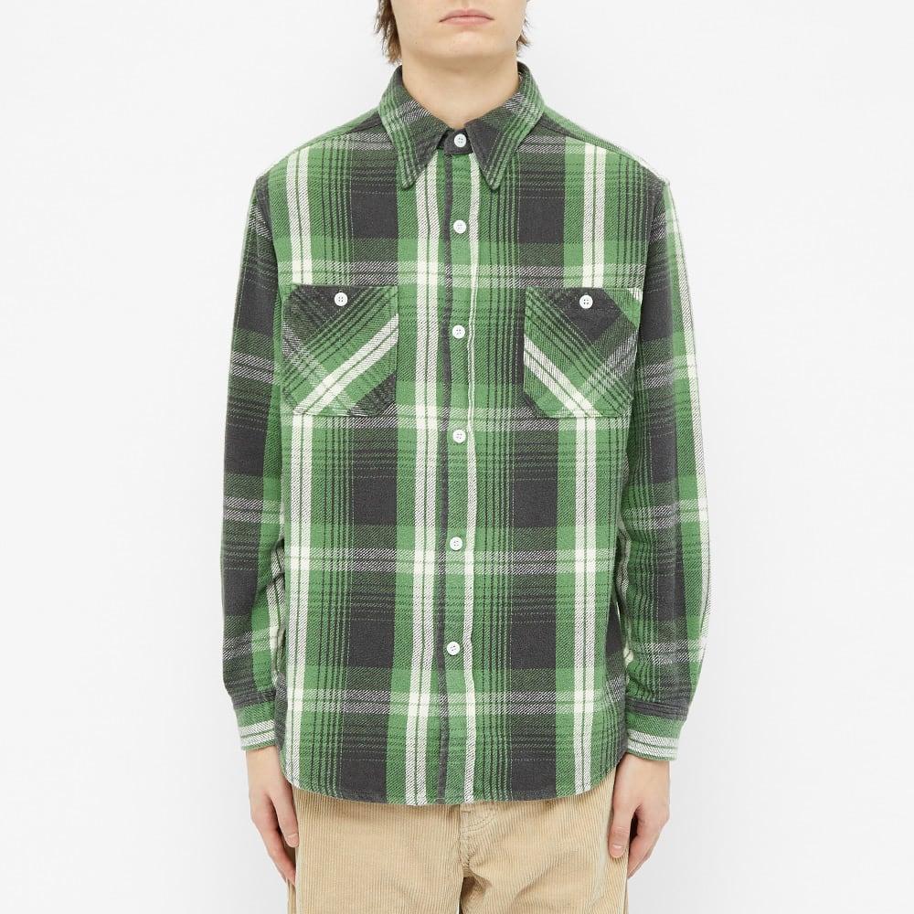 Wacko Maria Flannel Check Overshirt - Green