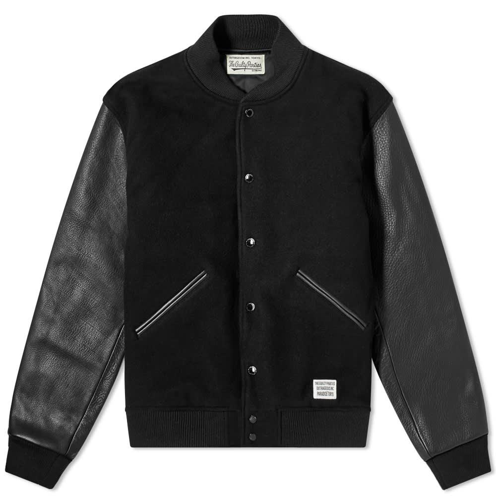 Wacko Maria Guilty Parties Varsity Jacket - Black