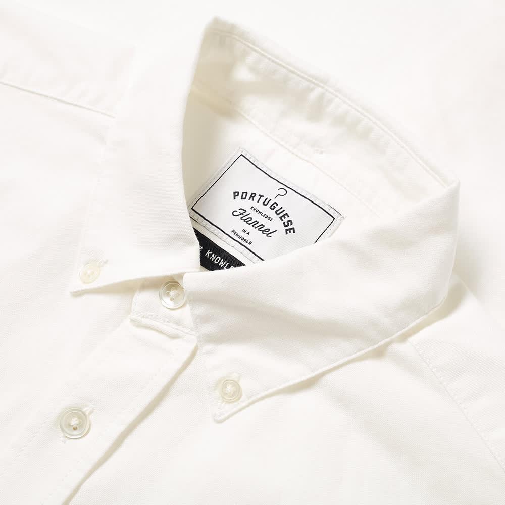 Portuguese Flannel Button Down Bellavista Oxford Shirt - Off-White