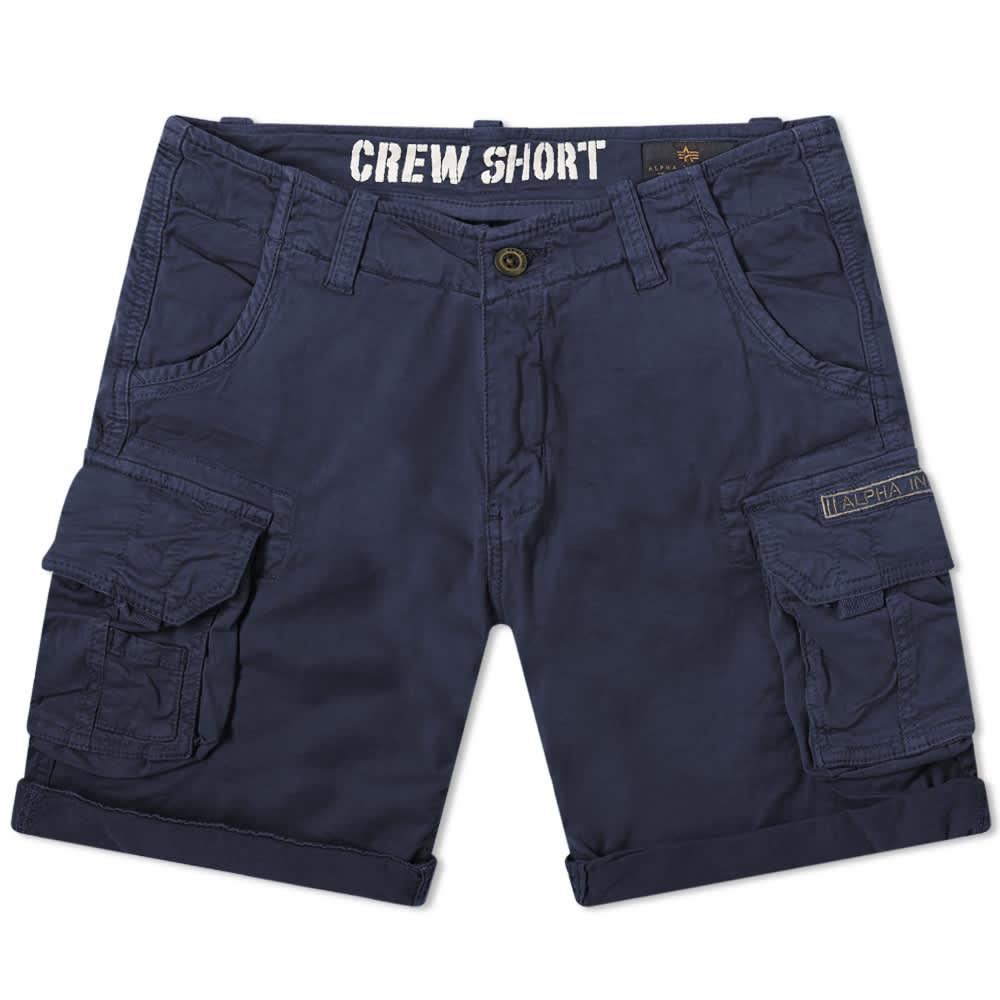 Alpha Industries Crew Short - Replica Blue