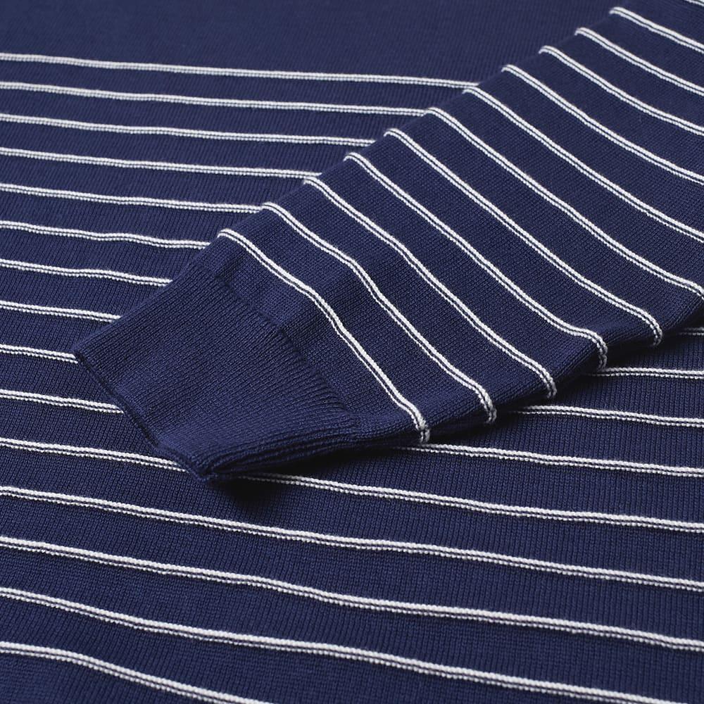Albam Striped Crew Knit - Navy & Ecru
