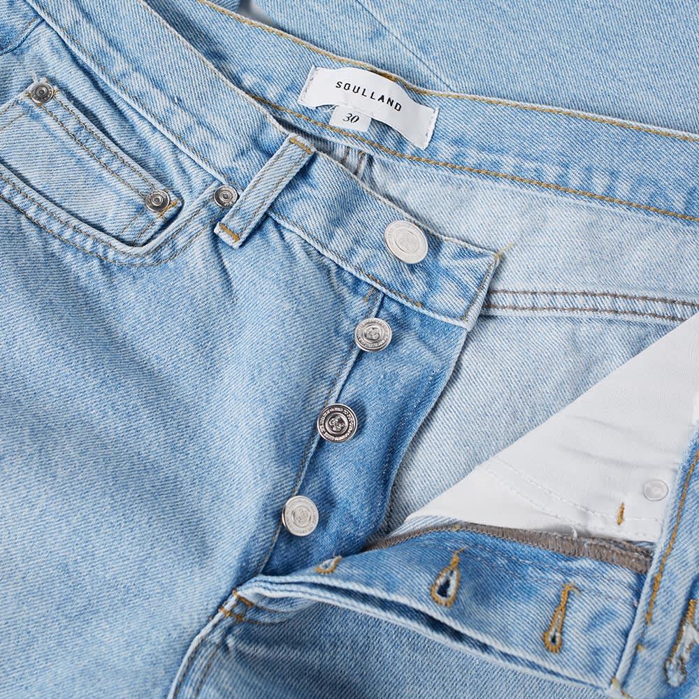 Soulland Erik Distressed Jean - Vintage Blue