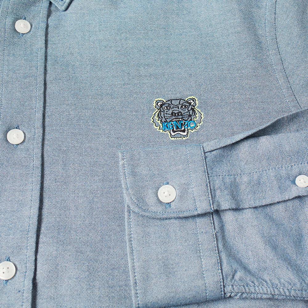 Kenzo Tiger Logo Button Down Oxford Shirt - Navy