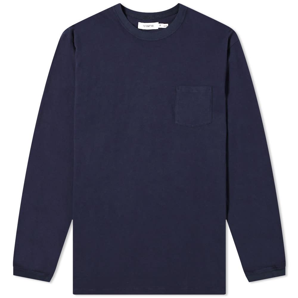 Nonnative Long Sleeve Dweller Classic Tee - Navy
