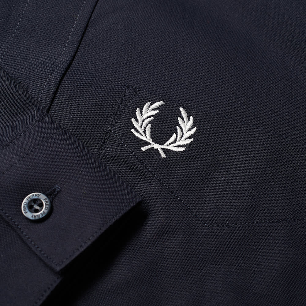 Fred Perry Button Down Oxford Shirt - Navy