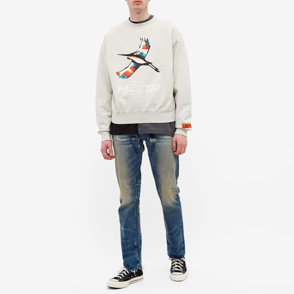 Heron Preston  Heron Rainbow Crewneck - Grey Marl