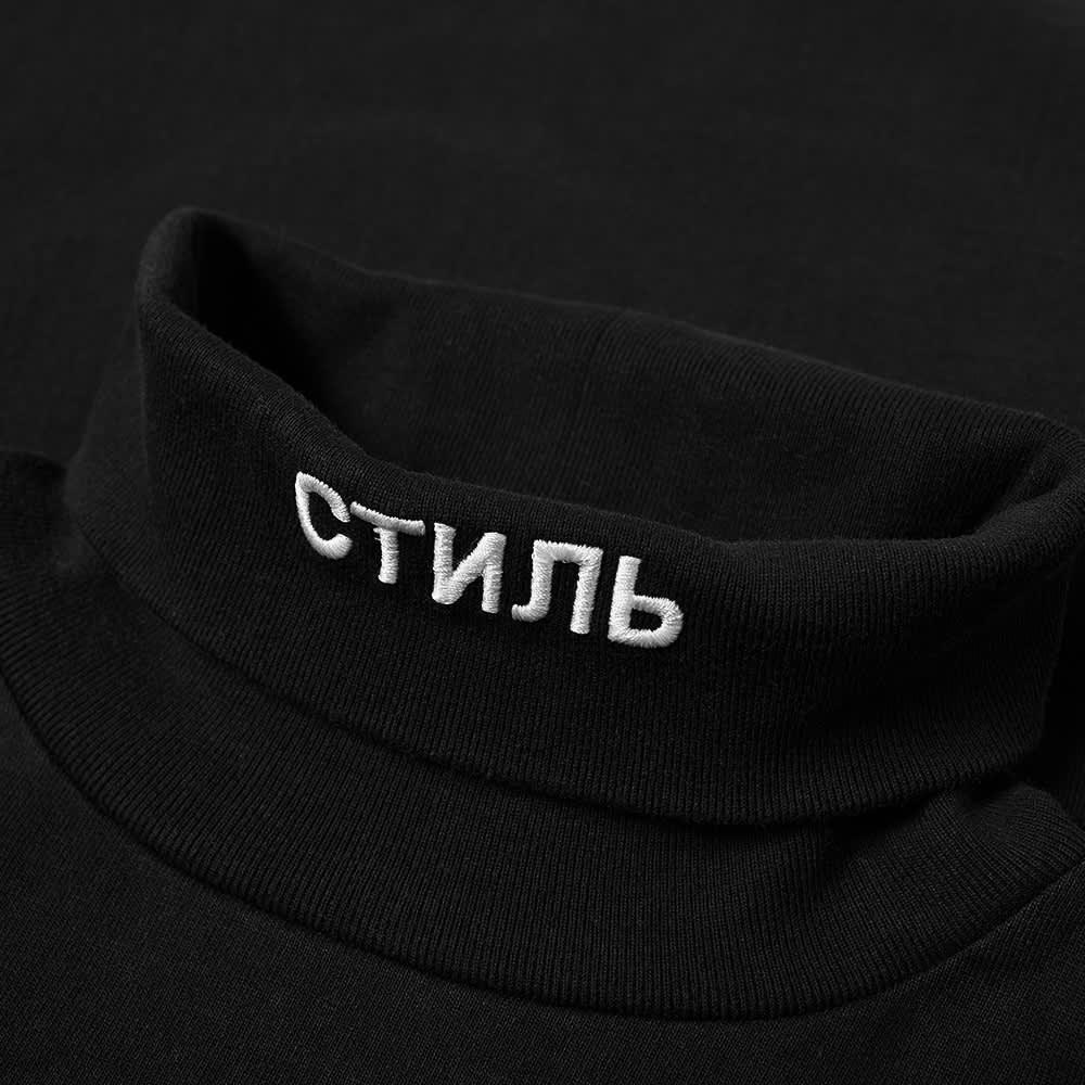 Heron Preston Long Sleeve Roll Neck CTNMB Tee - Black