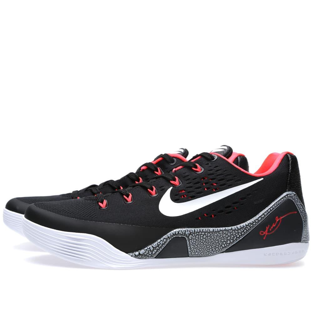 Nike Kobe IX EM 'Laser Crimson' - Black, White & Laser Crimson
