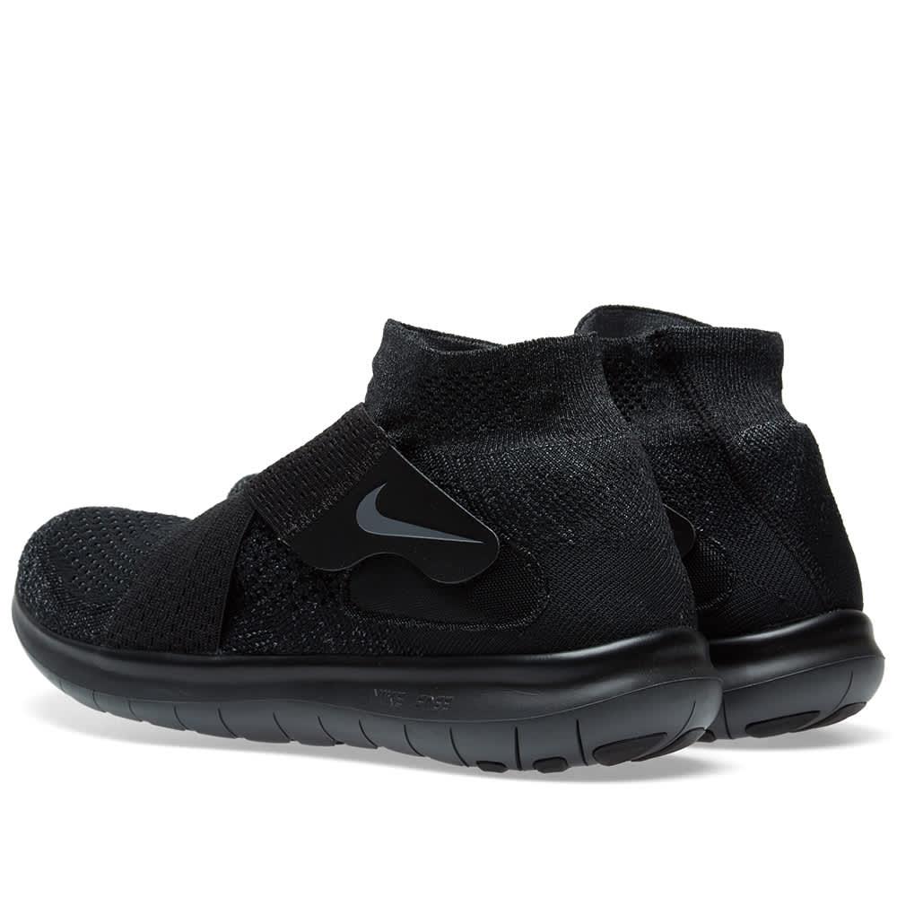 Nike Free Rn Motion Flyknit 2017 Black Dark Grey Anthracite End