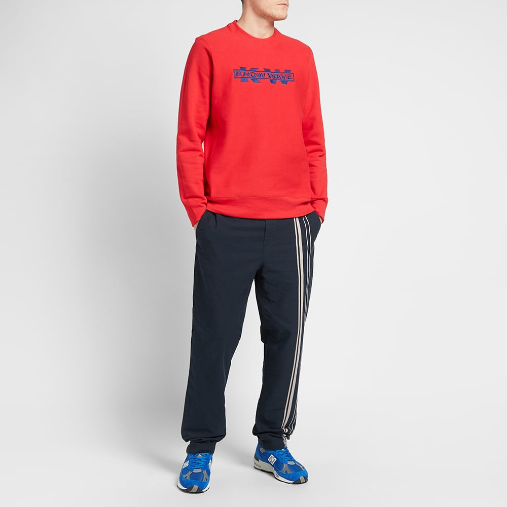 Know Wave x Black Dice Service Sector Embroidered Crew Sweat - Red