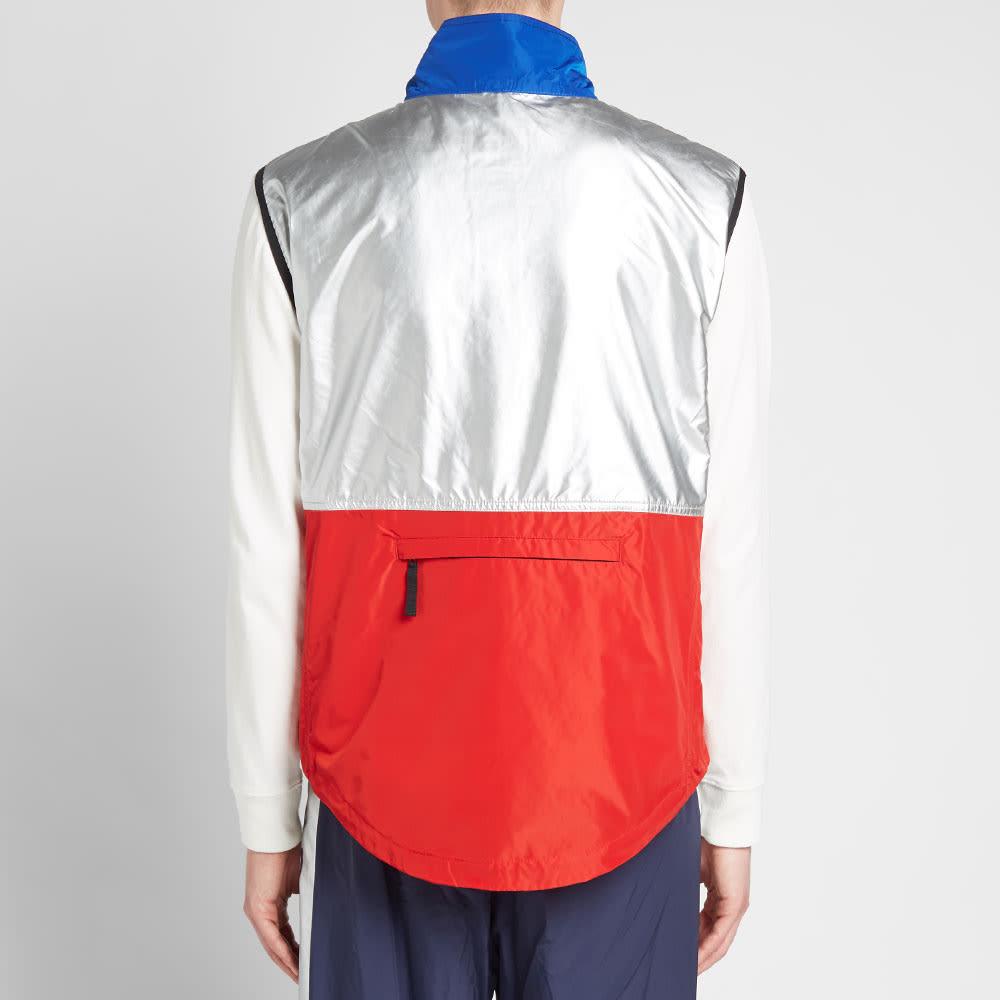Polo Ralph Lauren Polo Sport Silver Zip Gilet - Red, Newport Navy & Silver