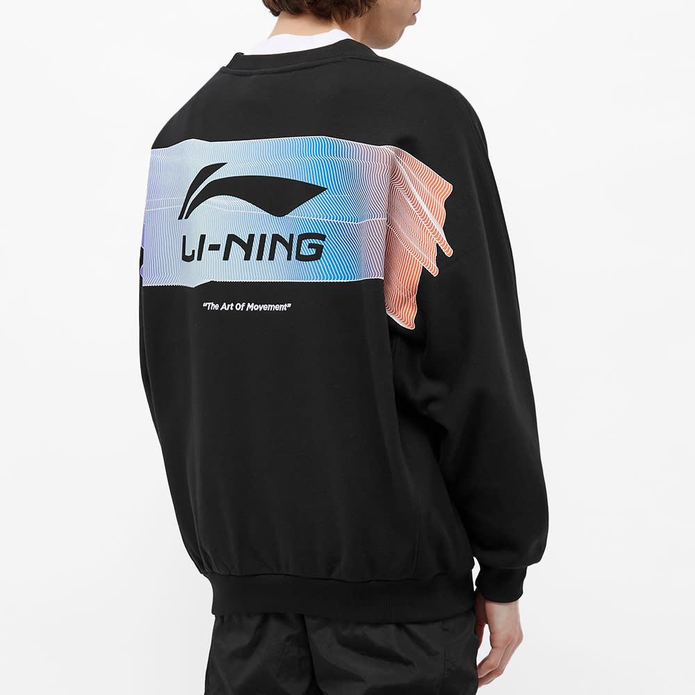 Li-Ning Logo Printed Crew Sweat - Black