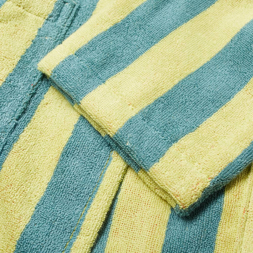 Dusen Dusen Bathrobe - Lime Stripe