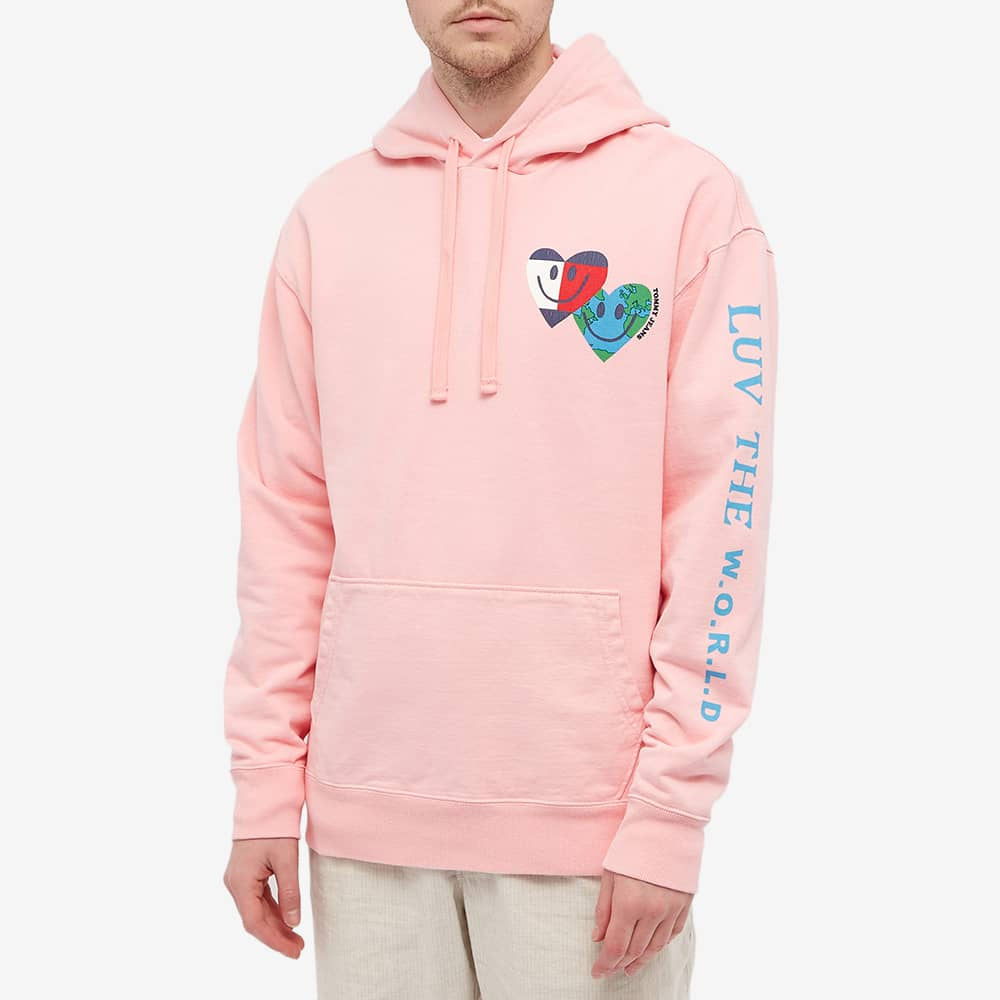 Tommy Jeans Tj Us Luv The World Hoody - Iced Rose