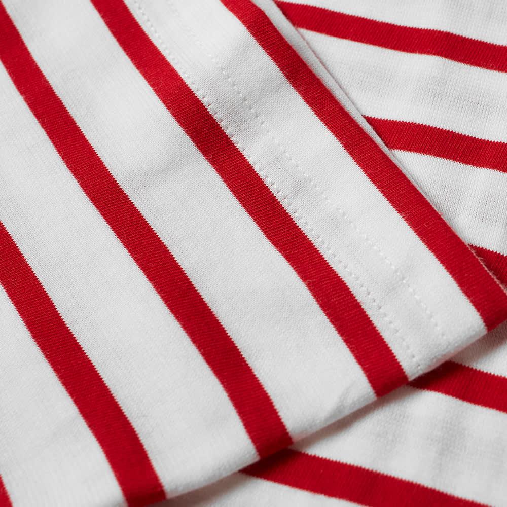Armor-Lux 73842 Mariniere Tee - White & Dark Red